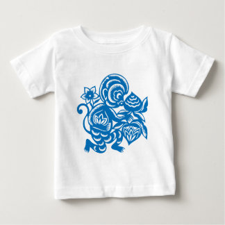 Blue Monkey Paper Cutting Tees