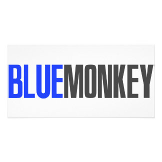 Blue Monkey Picture Card