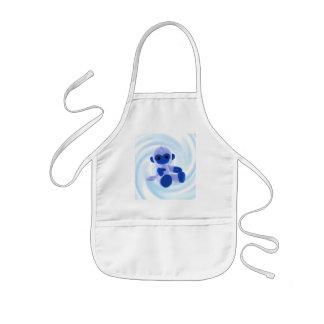 Blue Monkey (swirl) Kids Apron