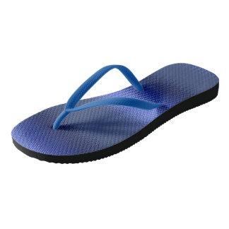 Blue monochromatic stripe frosted STRIPE06 Flip Flops