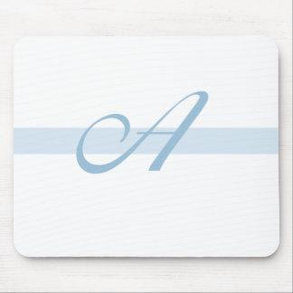 Blue Monogram A Mouse Mats