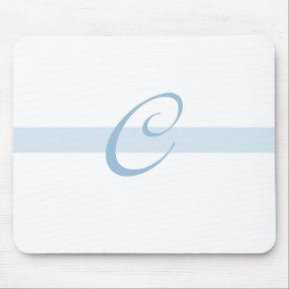 Blue Monogram C Mouse Mats