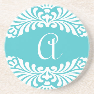 Blue Monogram Coasters