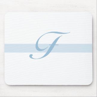 Blue Monogram F Mouse Mat