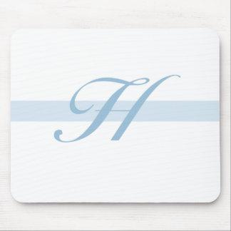 Blue Monogram H Mouse Pad