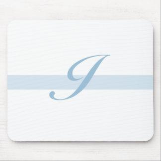 Blue Monogram I Mouse Mats
