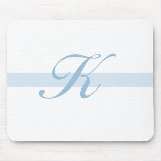 Blue Monogram K Mouse Mats