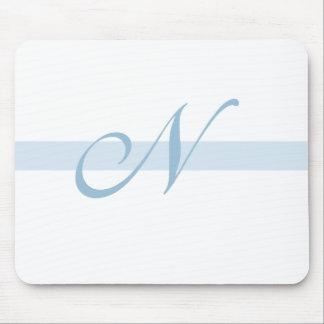 Blue Monogram N Mouse Pad
