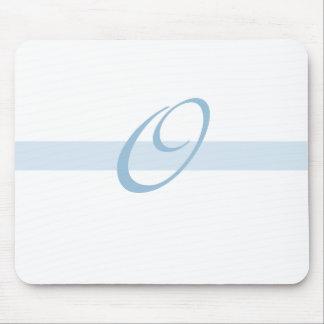 Blue Monogram O Mouse Mats