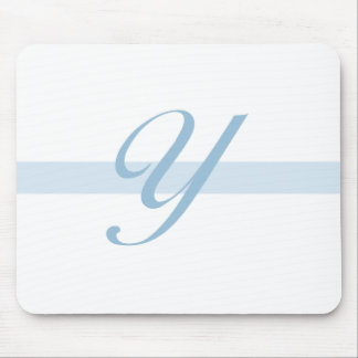 Blue Monogram Y Mouse Pad