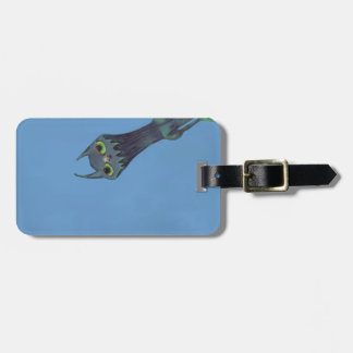 Blue Monster Customizable Luggage Tag
