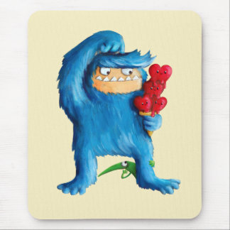 Blue Monster Ice Cream Mouse Pad
