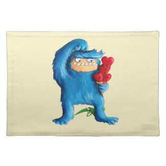 Blue Monster Ice Cream Placemat