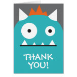 Blue Monster Thank You Note Card