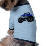 BLUE MONSTER TRUCK PET SHIRT