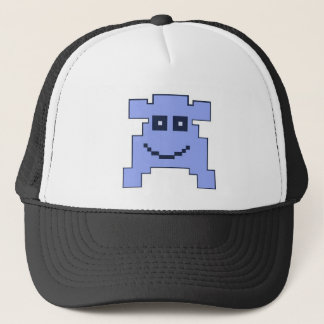 blue monster trucker hat