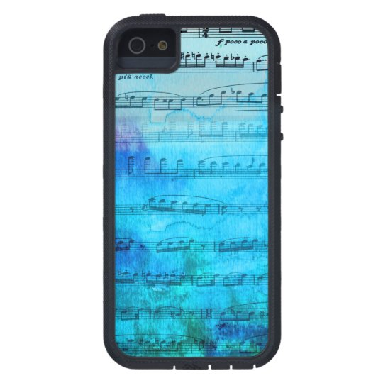 Blue Mood Music Watercolor Phone case