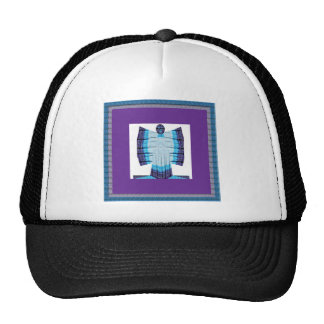 Blue Moon Angel Butterfly made of Cotton Fabric 99 Trucker Hat