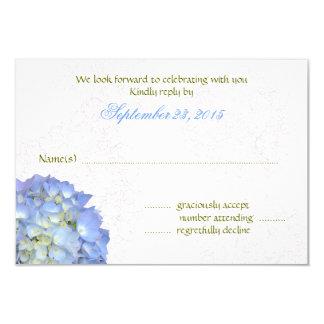 Blue Moon Art Hydrangea Wedding Reply Cards