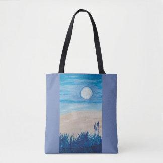 Blue Moon at the Beach Tote Bag