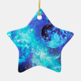 Blue Moon Ceramic Star Decoration