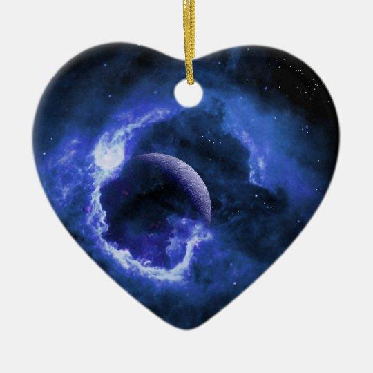 Blue Moon Christmas Ornament