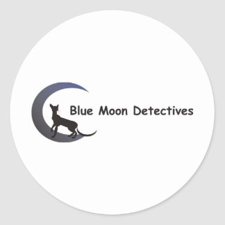 Blue Moon Detectives Round Stickers