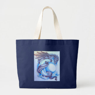 Blue Moon Dragon Large Tote Bag