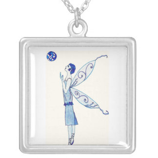 Blue Moon Fairy 2011 Silver Plated Necklace