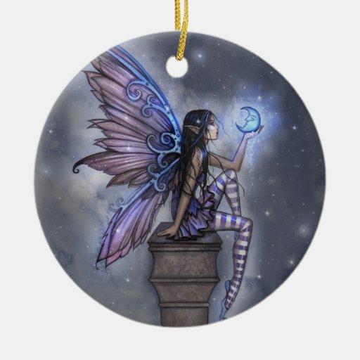 Blue Moon Fairy Fantasy Ornament