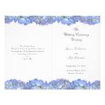 Blue Moon Folded Floral Wedding Program Template 21.5 Cm X 28 Cm Flyer