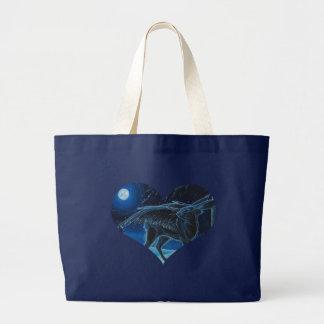 Blue Moon Gazing Hare - Tote Bag