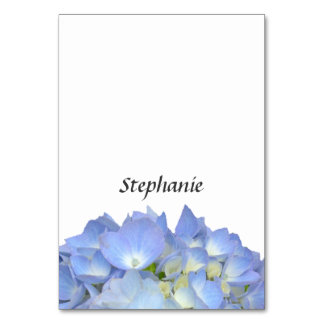 Blue Moon Hydrangea Name Template Place Cards