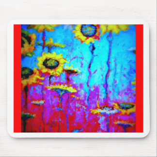Blue Moon Light Sun Flowers by Sharles Mouse Pad