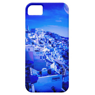 Blue Moon Over Fira Santorini iPhone 5 Cover