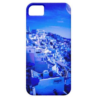 Blue Moon Over Fira Santorini iPhone 5 Cover