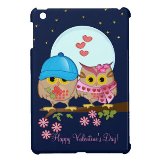Blue moon owls in love & custom text cover for the iPad mini