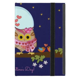 Blue moon owls in love & custom text iPad mini cover