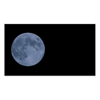 Blue Moon Pack Of Standard Business Cards