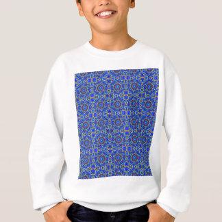 Blue moon pattern in geometric shapes. sweatshirt