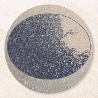 Blue Moon Round Paper Coaster