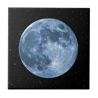 Blue Moon Small Square Tile