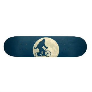 BLUE MOON SQUATCH ON A BIKE SKATE BOARD DECK