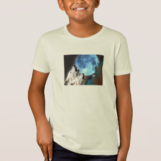 Blue Moon Wolves Organic T-Shirt