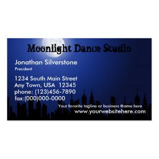 Blue Moonlight Business Cards, Dance Studio, Night