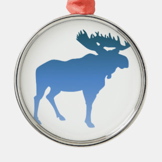 Blue Moose Christmas Ornament