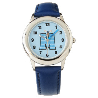 "Blue Moose Letter ""M"" Boys Monogram Watch"