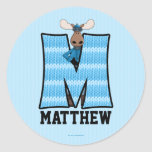 "Blue Moose Monogram ""M"" Personalised Stickers"