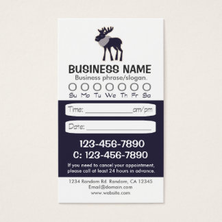 Blue moose rustic appointment cards