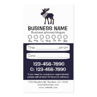 Blue moose rustic appointment cards pack of standard business cards